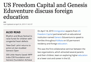 US Freedom Capital and Genesis Eduventure discuss foreign education