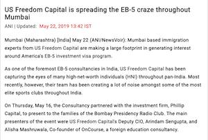 EB-5 craze in Mumbai